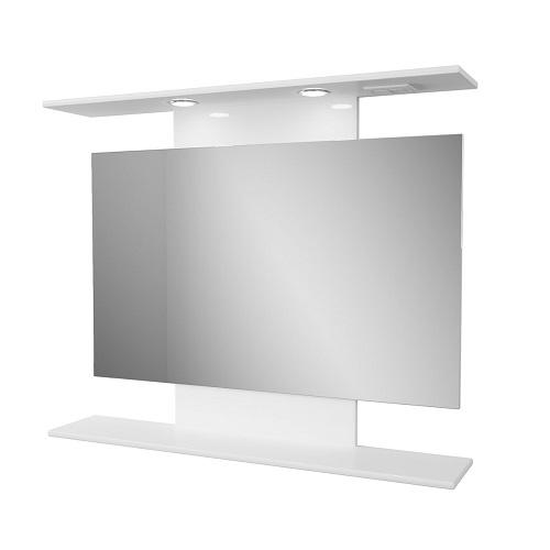 Зеркало Merkana Коралл 82 с полочкой, белый