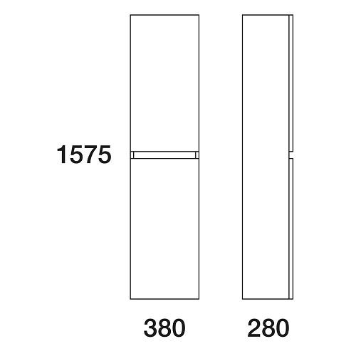 Пенал Edelform Амата 38 подвесной, белый