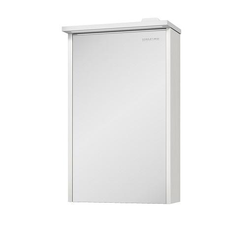 Шкаф зеркальный Edelform Марино 50 белый с выбеленным деревом