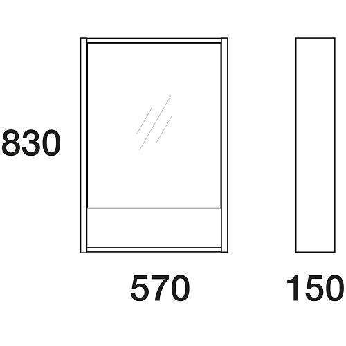 Шкаф зеркальный Edelform Белль 60 белый с макассар