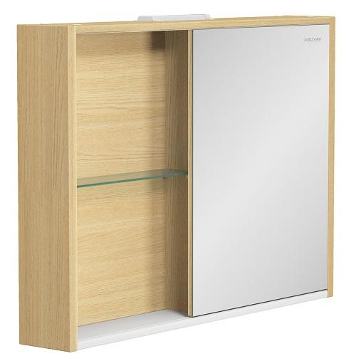 Шкаф зеркальный Edelform Уника 100 белый с дуб гальяно