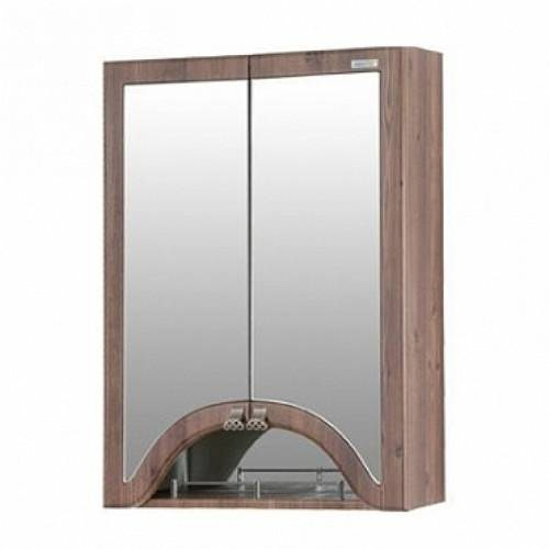 Зеркальный шкаф Merkana Пиллау 60, темный янтарь