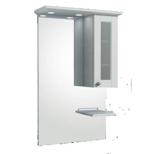 Зеркальный шкаф Merkana Гент 60, белый матовый