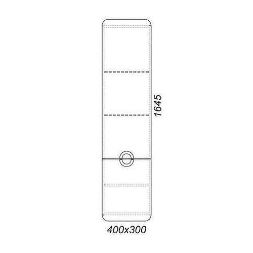 Пенал Аквелла Alic.05.04/L/Gray 40см подвесной, дуб седой, левый