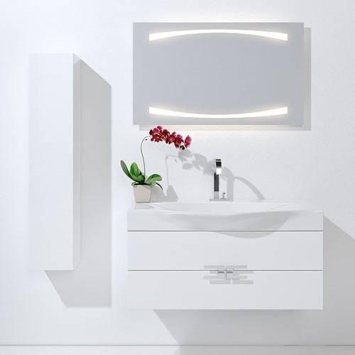 Пенал Аквелла An.05.25/W/BLK Анкона 250, цвет белый, черный