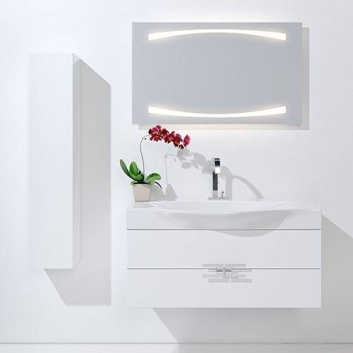 Пенал Аквелла An.05.35/W/BLK Анкона 350 ,цвет белый, черный
