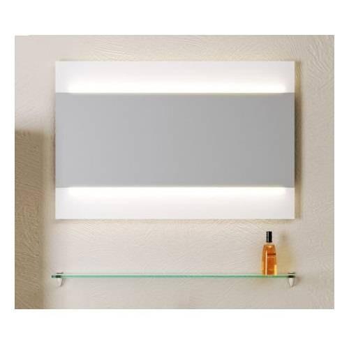 Зеркало Аквелла Бергамо 80 см с подсветкой, Ber.02.08
