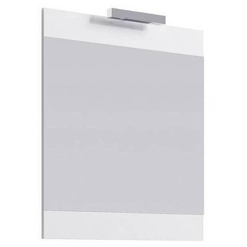 Зеркало Аквелла Бриг 60 см со светильником, белое, Br.02.06/W