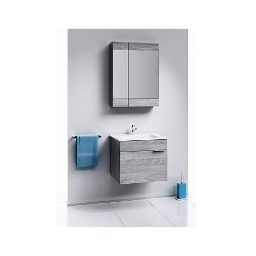 Зеркальный шкаф Аквелла Br.04.06/Gray Бриг 60см, дуб седой