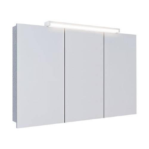 Шкаф-зеркало Аквелла Бродвей 100 белый