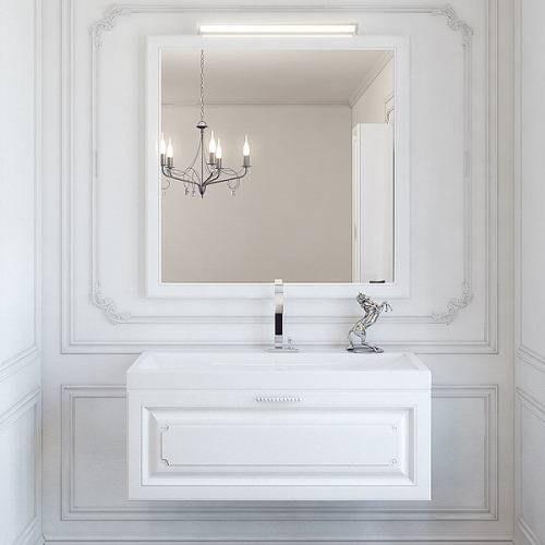 Зеркало Аквелла Emp.02.10 Империя 100х80, цвет белый универсальное