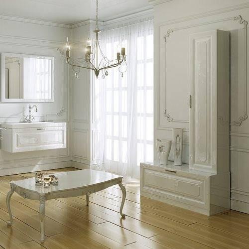 Пенал Аквелла Emp.05.35 подвесной Империя 350х350, цвет белый