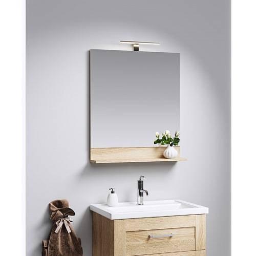 Зеркало Аквелла Фостер 60 см с полкой, с подсветкой, FOS0206DS