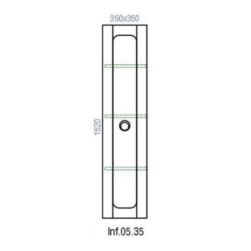 Пенал Аквелла inf.05.35 подвесной Инфинити 35 варианты цветов черный