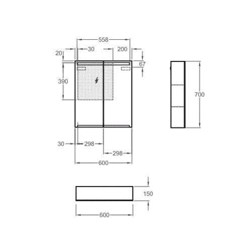 Зеркальный шкаф Keramag Option 801460 60 см