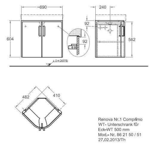 Тумба под раковину Keramag Renova Nr.1 Comprimo New 862150 50 см