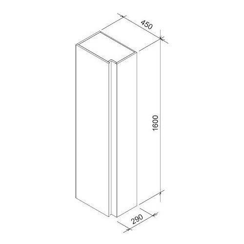 Шкаф боковой Ravak SB 10 серый X000000752
