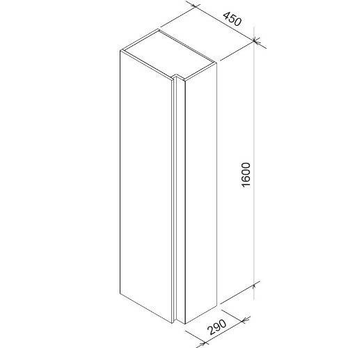 Шкаф боковой Ravak SB 10 темный орех X000000753