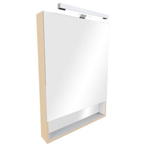 Шкаф зеркальный Roca Gap 80 см, бежевый, правый ZRU9302700