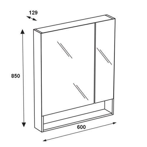 Зеркальный шкаф Roca Gap 60 см, белый глянец ZRU9302885