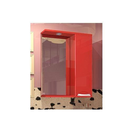 Зеркало-шкаф Style Line Жасмин 650/С красный, с подсветкой