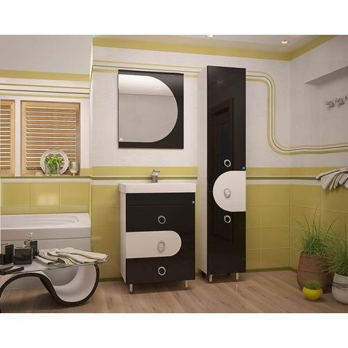 Зеркало Style Line Адонис 600, черное
