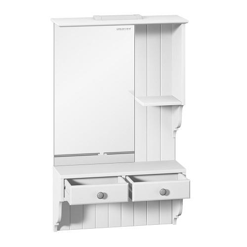 Шкаф зеркальный Edelform Дижон 60 белый