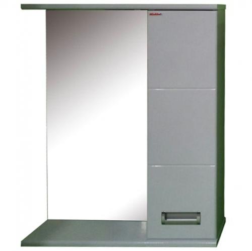 Зеркало Merkana Руно 50, шкафчик справа, белый