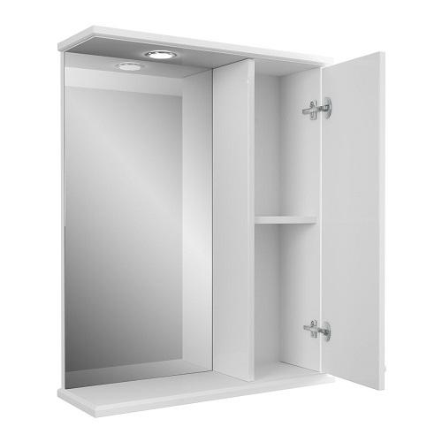 Зеркальный шкаф Merkana Прованс 60, белый матовый