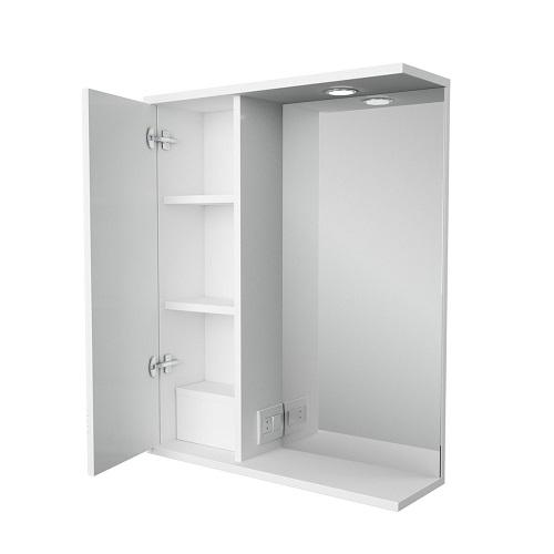 Зеркальный шкаф Merkana Астурия 58, левый/правый, белый