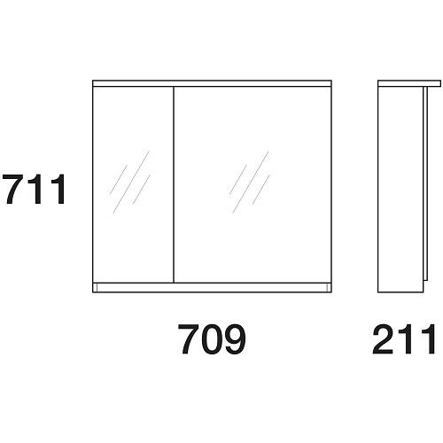 Шкаф зеркальный Edelform Амата 80 белый