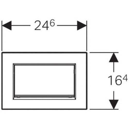 Клавиша Geberit Sigma 20 одинарный смыв 115.893.KX.1 цвет хром структурный/хром глянец