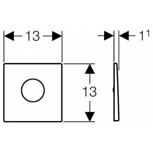 Система управления смывом для писсуара Geberit Sigma 01 116.011.46.5