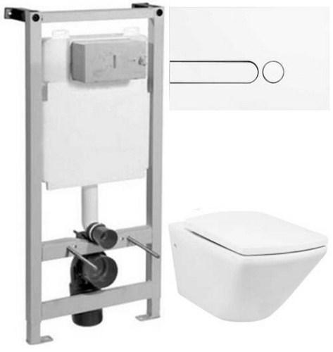 Комплект инсталляции Jacob Delafon + белая клавиша E4326-00 + Escale унитаз с сиденьем микролифт