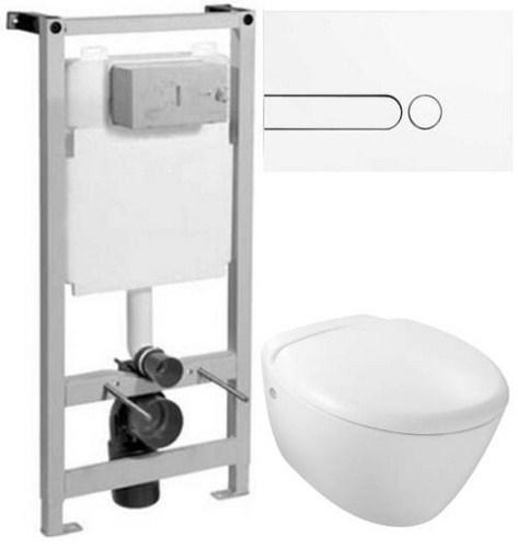 Комплект инсталляции Jacob Delafon + белая клавиша E4326-00 + Presquile унитаз с сиденьем микролифт