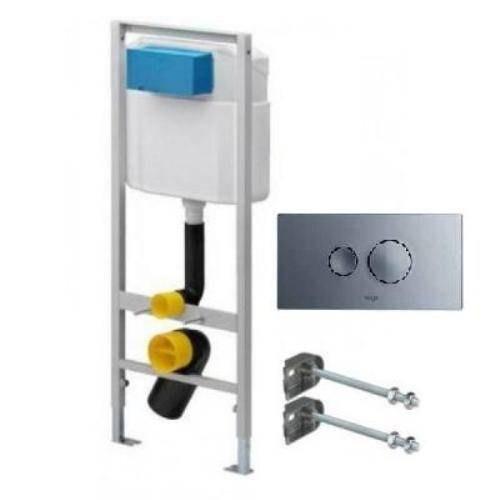 Комплект инсталляции Viega Eco Set 596323 713386, кнопка хром глянец , крепеж