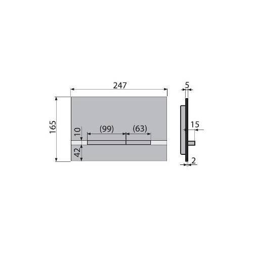 Кнопка управления ALCAPLAST STRIPE металл матовый