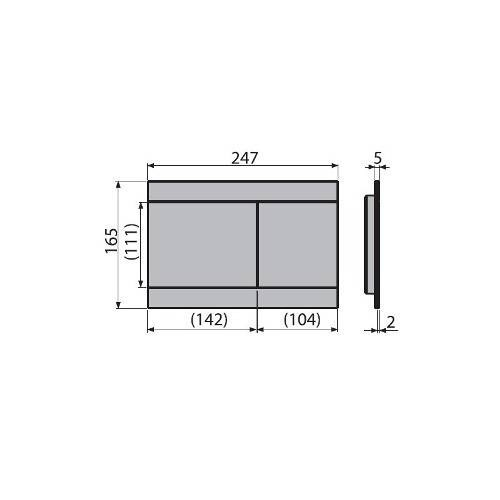 Кнопка управления ALCAPLAST FUN INOX металл матовый