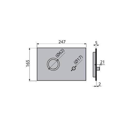 Кнопка управления ALCAPLAST STING INOX металл матовый