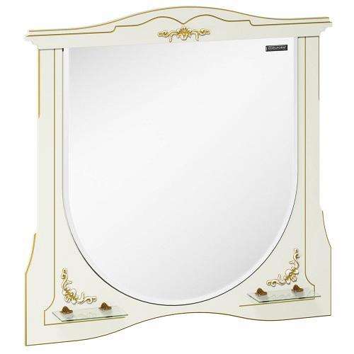Зеркало Edelform Луиза 100, белый матовый с золотом