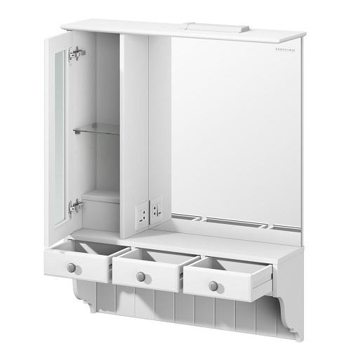 Шкаф зеркальный Edelform Дижон 80 белый