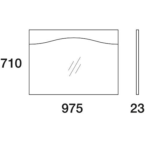 Зеркало Edelform Дольче 105 с подсветкой, 975х710 мм, ф0562007564
