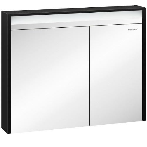Шкаф зеркальный Edelform Карино 100 черный с эбони