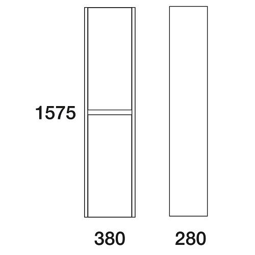 Пенал Edelform Белль 38 подвесной, белый с макассаром