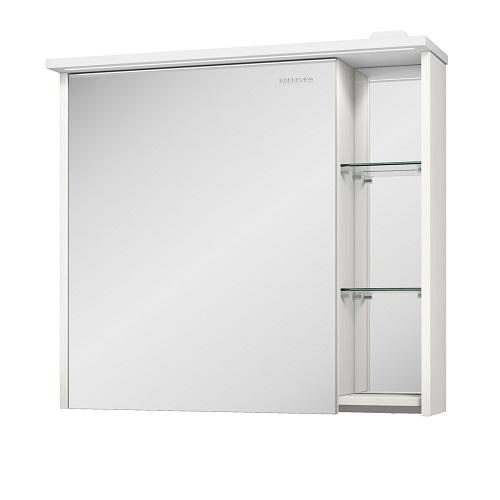 Шкаф зеркальный Edelform Марино 80 белый с выбеленным деревом