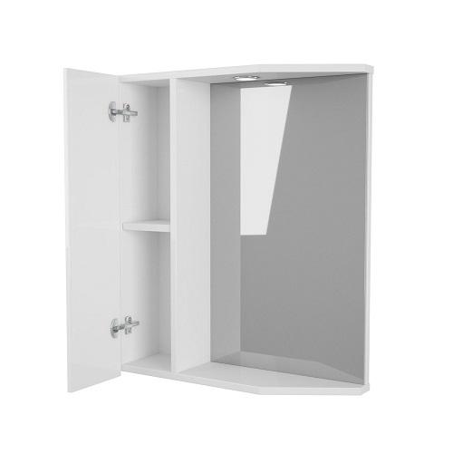 Зеркальный шкаф Merkana Болония 58, левый/правый, белый