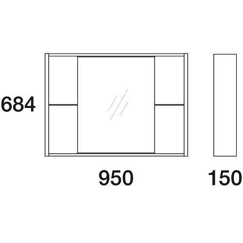 Шкаф зеркальный Edelform Белль 100 белый с макассар