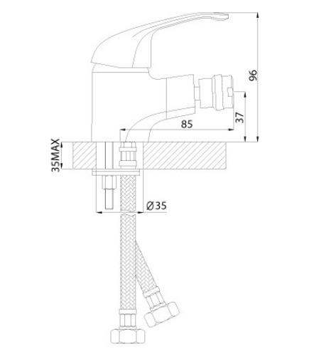 Смеситель ROSSINKA A35-41 для биде