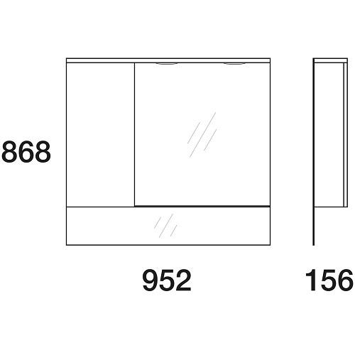 Шкаф зеркальный Edelform Амата 100 белый