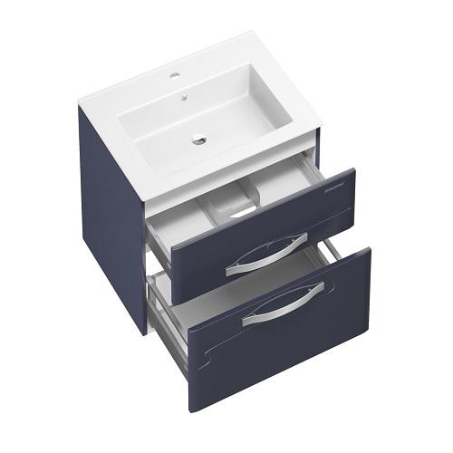 Тумба под раковину, комплект Edelform Нота 65 подвесная, раковина Оскар 65, серый